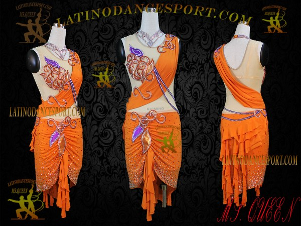 Latinodancesport Ballroom Dance LDS-32 Latin Dress Tailored