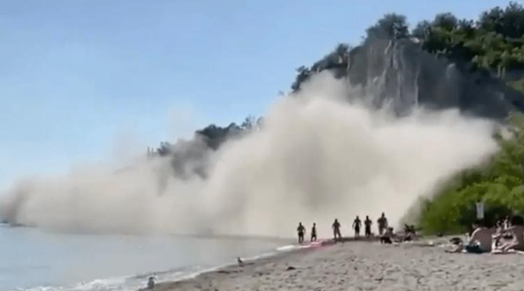Reportan derrumbe en Scarborough Bluffs durante el fin de semana