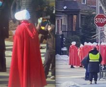 El elenco de la serie The Handmaid's Tale está filmando en Toronto