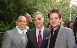 Ryan Piers Williams with the founders of the NYILFF