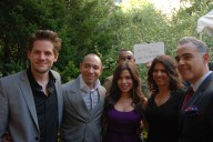 Ryan Piers Williams and America Ferrera with the founders of the NYILFF
