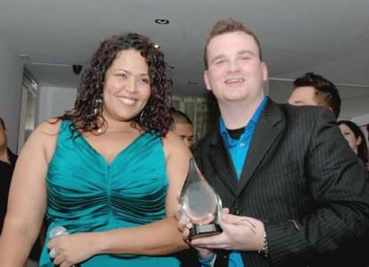 Judy Torres awards Terence Osborne