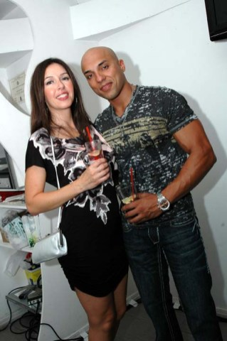 (Left to right) Arlene Katai partied with her boyfriend Waseem Khawaja who plays the lead male role in the Stay video