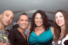(Left to right) Waseem Khawaja, Louis Loca (producer of the event), Judy Torres and Arlene Katai, Khawaja's girlfriend
