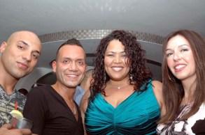 (Left to right) Waseem Khawaja, Louis Loca (producer of the event), Judy Torres and Arlene Katai, Khawaja's girlfriend