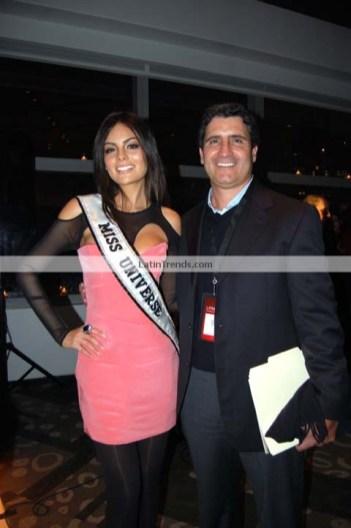 Ximena Navarrete, Miss Universe 2010 and Sergio Carrera, Televisa Publishing