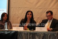 Ligia Jacquez of the US Census, Michelle Cruz of East Harlem Cafe, and Mike Segal of New York Private Equity Forum