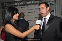 Eder Holguin (Trendsetter) being interview by LatinTRENDS