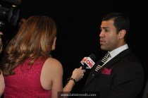 JW Cortes (Trendsetter) being interview by Maria Santana of CNN en Español
