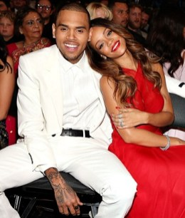 Rihanna and Chris Brown in the audience at the 2013 Grammy Awards [Photo: Getty Images]