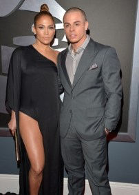 Jennifer Lopez and Casper Smart arrive to the 2013 Grammys Red Carpet [Photo: Getty Images]
