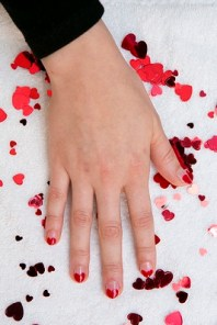 """""""Brave Heart"""" Nail Design with COVERGIRL Outlast Stay Brilliant Nail Gloss (Photo: Business Wire)"""