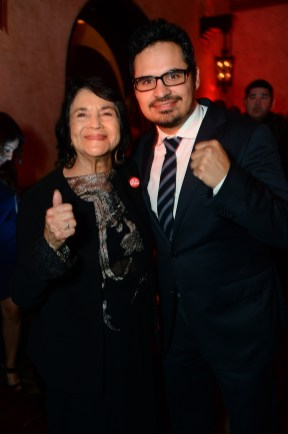 Dolores Huerta and Michael Peña