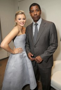 Chloe Grace Moretz and Denzel Washington
