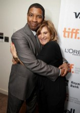 Denzel Washington and Amy Pascal, Co-Chairman of Sony Pictures Entertainment