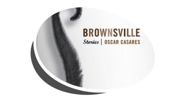 Book cover of short story collection titled Brownsville by Oscar Casares with picture of a money tail