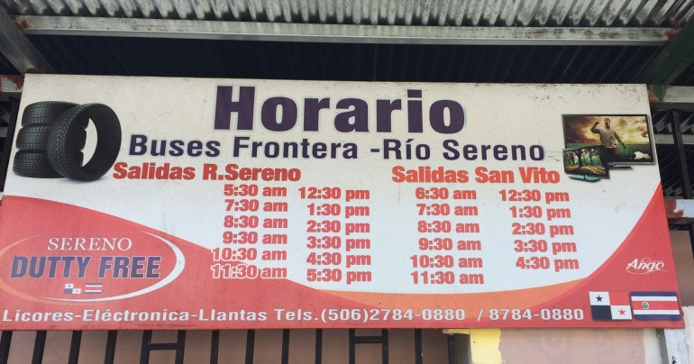 bus-schedule1 Running for the Border Costa Rica Panama The Expat Life