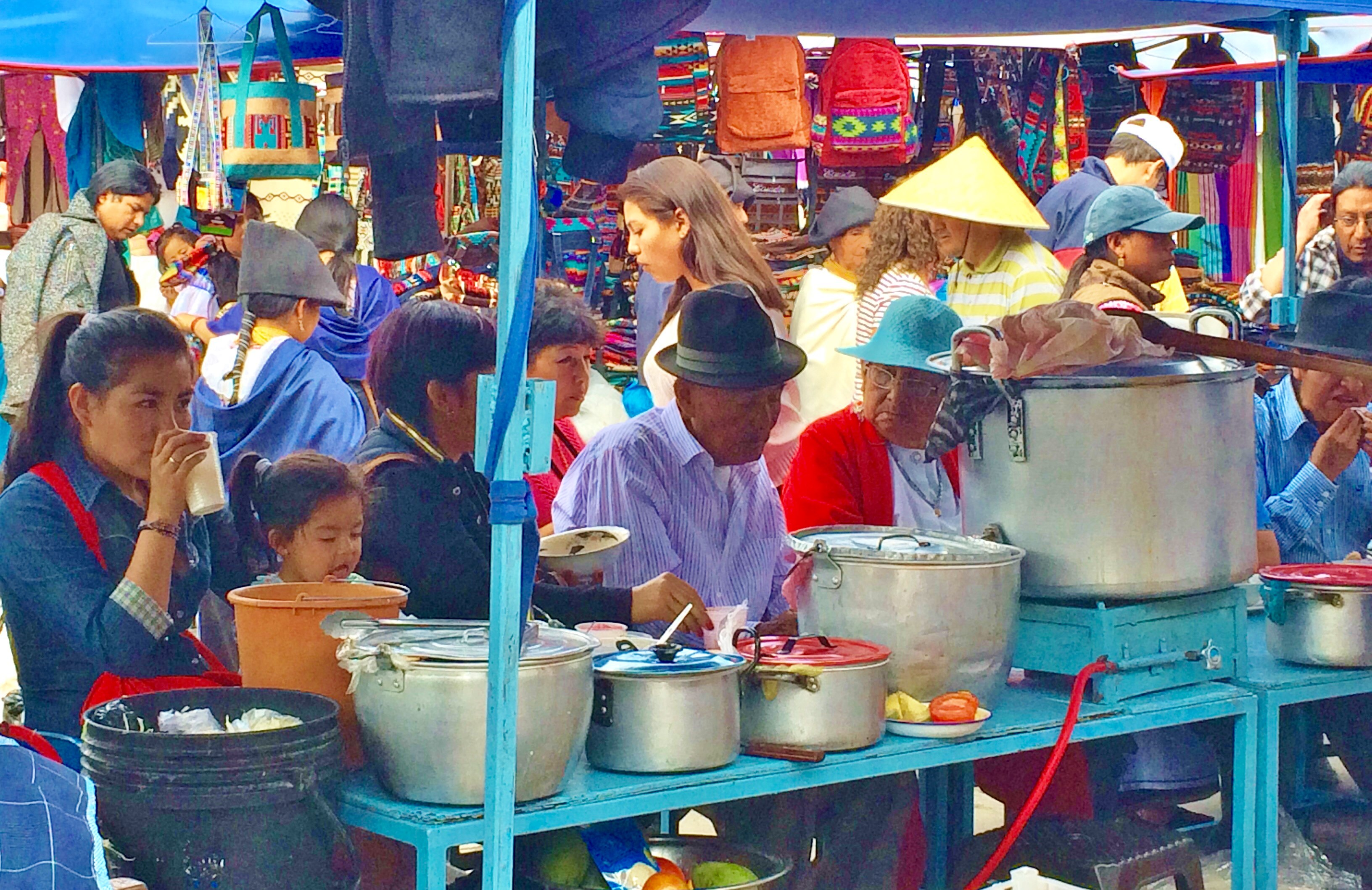 """Otavalo-Lunch-Counter """"Panama"""" Hats and Hot Springs: Two Day/Overnight Trips Out of Quito, Ecuador Ecuador"""