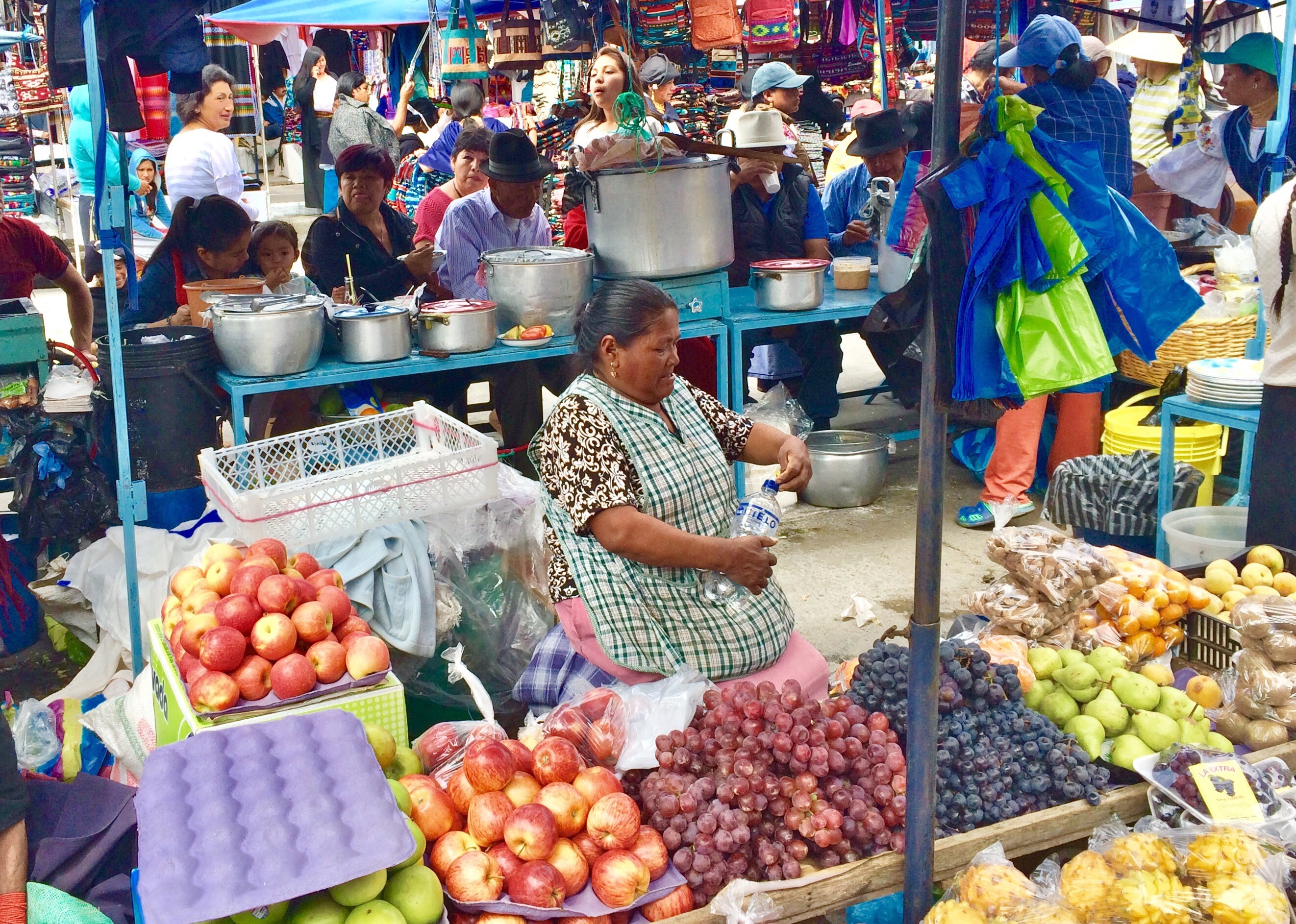 "Otavalo-Market-2 ""Panama"" Hats and Hot Springs: Two Day/Overnight Trips Out of Quito, Ecuador Ecuador"