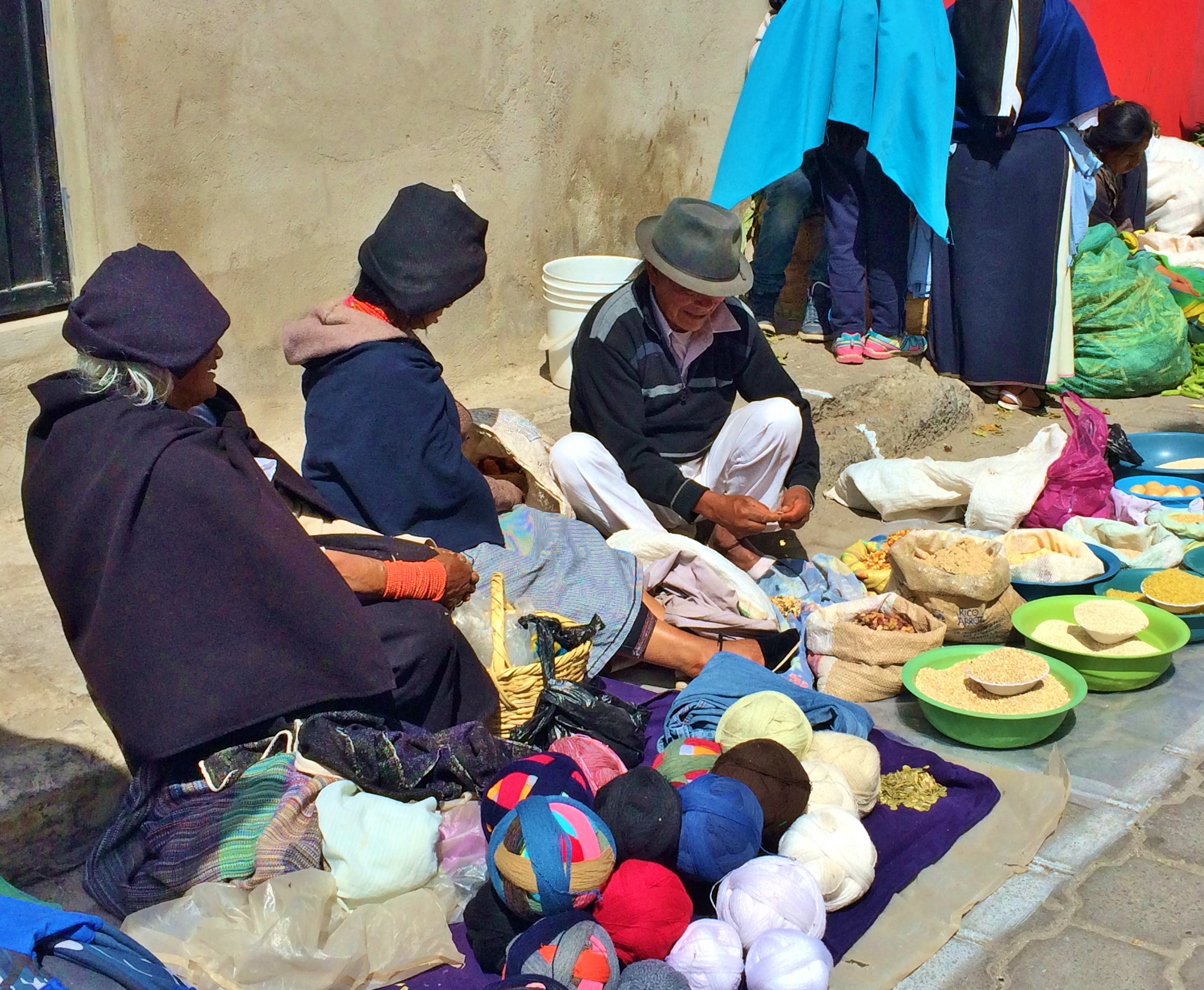 """Otavalo-Street-4 """"Panama"""" Hats and Hot Springs: Two Day/Overnight Trips Out of Quito, Ecuador Ecuador"""