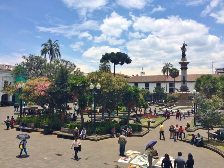 Quito-Parque-Central FOUR DAYS IN QUITO, ECUADOR: Part I Ecuador Quito