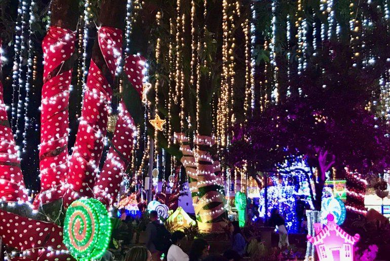 Christmas lights in Sabaneta, Colombia