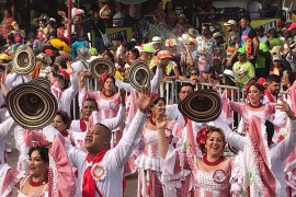 cumbia dancers at Colombia's carnival