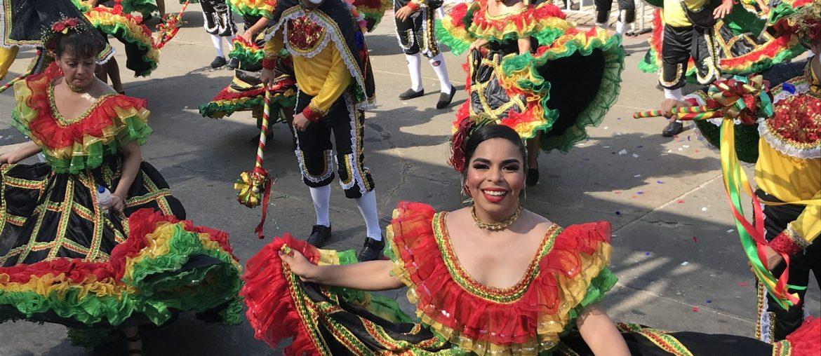female dancer at Colombia's carnival