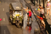 Never, ever, ride in a tuktuk over Songkran !