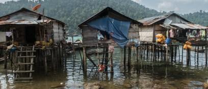 Moken village houses