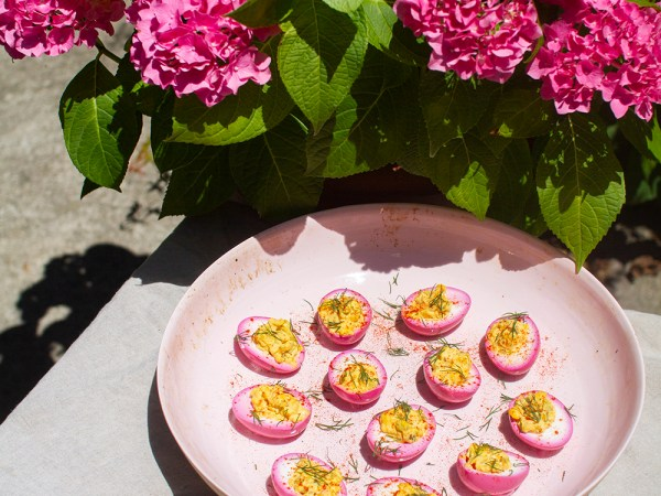 Try This: Pickled Pink Deviled Eggs!