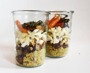 légumes caramélisés et quinoa bocal isabelle