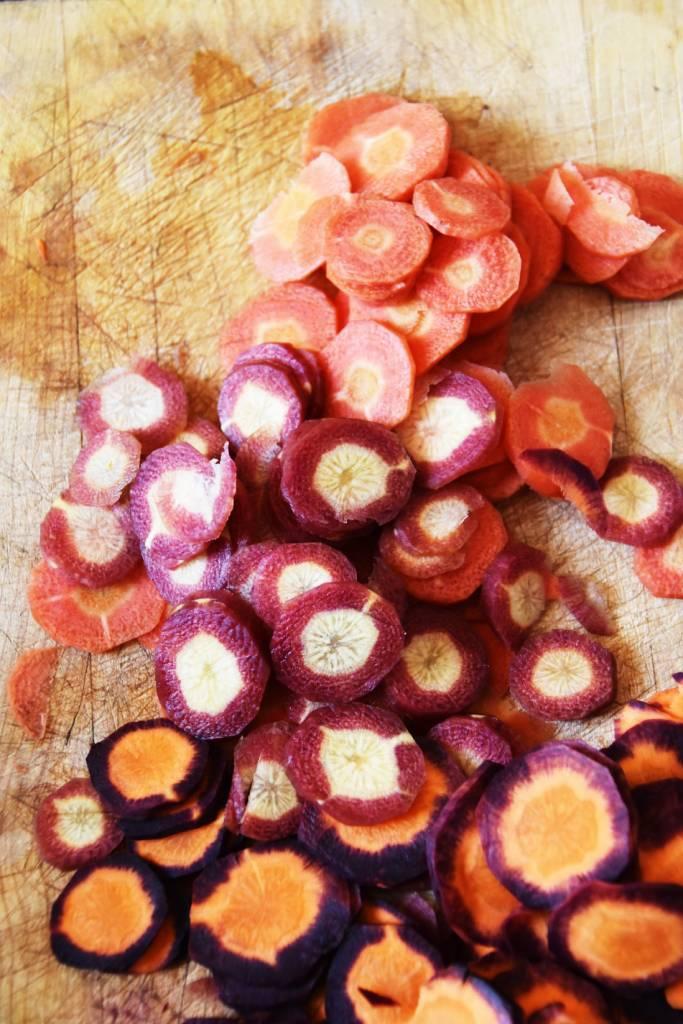 carottes rouges et violettes galerie