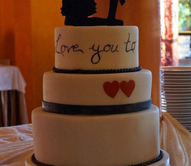 Scherenschnitt-Torte Patricia & Daniel