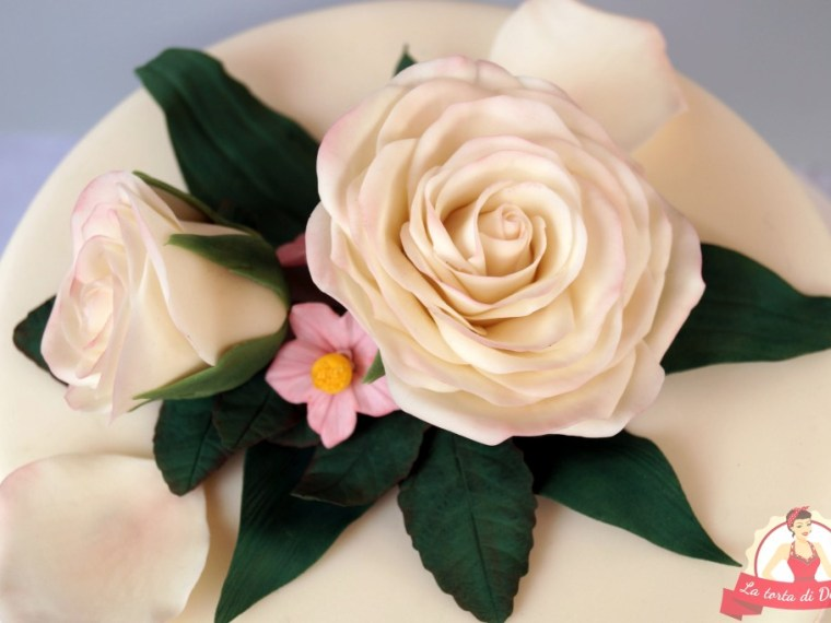 Kleine Hochzeitstorte für die Hochzeitsmesse