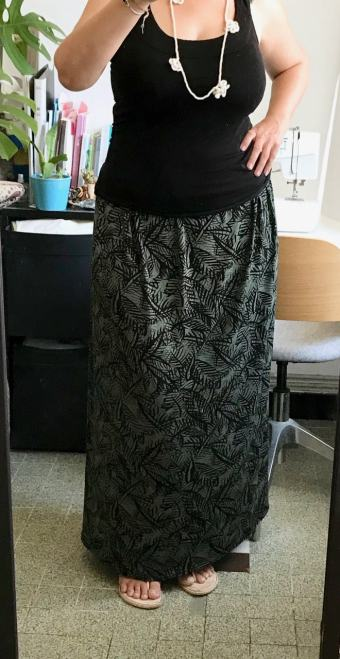 jupe longue fait maison