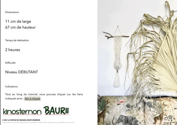 détail pour la réalisation de la suspension en macramé Baurii
