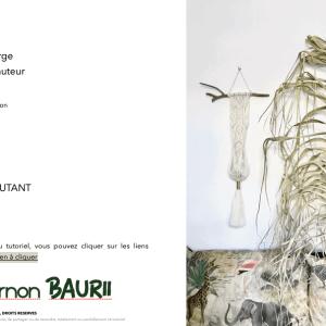 Tutoriel Suspension en Macramé – kinosternon BAURII