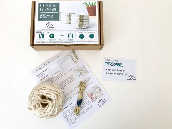 kit pour réaliser une panière en macramé