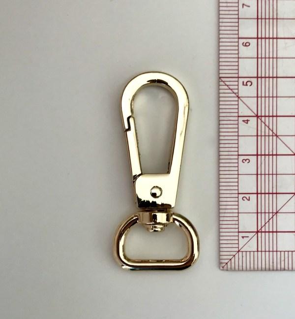 grand mousqueton doré blanc pour porte-clés en macramé