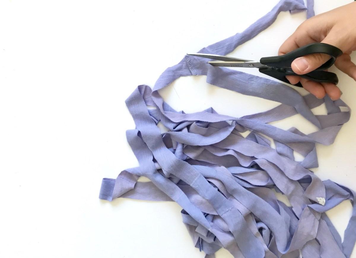 fabriquer de la corde avec un t-shirt