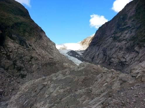 Franz Jossef. Excursión a la lengua del glaciar