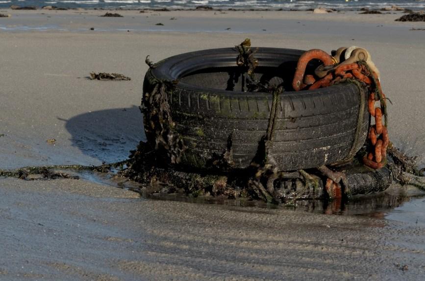 pneu d'amarage Koréjou, plouguerneau, finistère