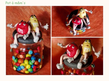 pot à m&m's en porcelaine froide