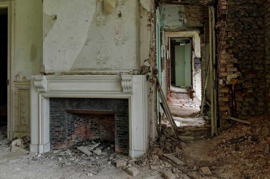 détail pièce au premier étage château Miranda