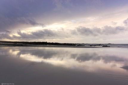 plage en hiver Kerlouan miroir