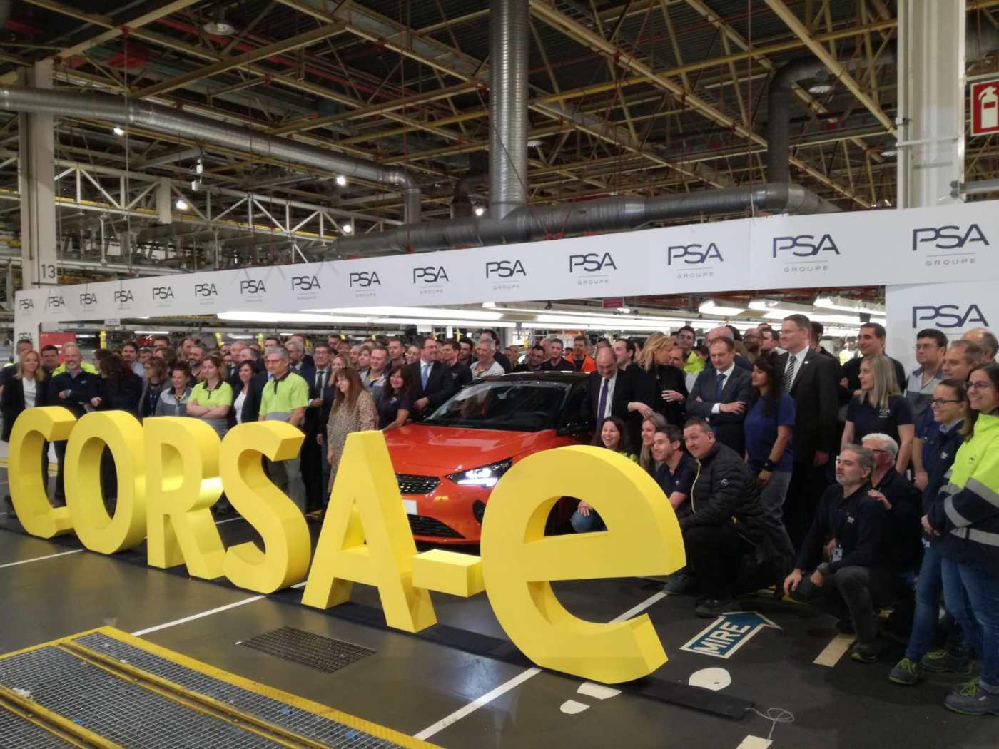 Opel Corsa-e en PSA Figueruelas
