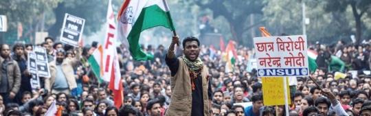 manif étudiants inde