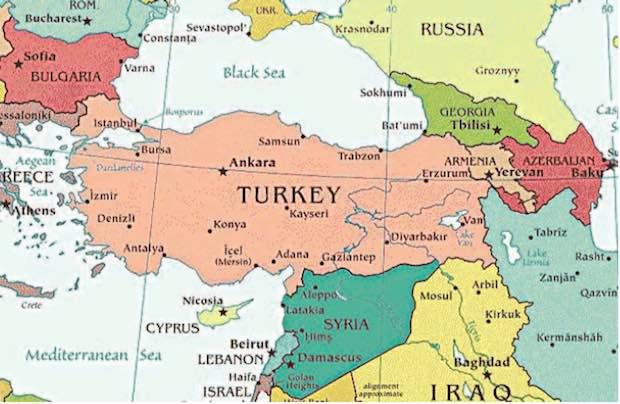 Turquie carte géo