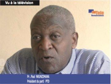 Paul Nkunzimana PTD Burundi